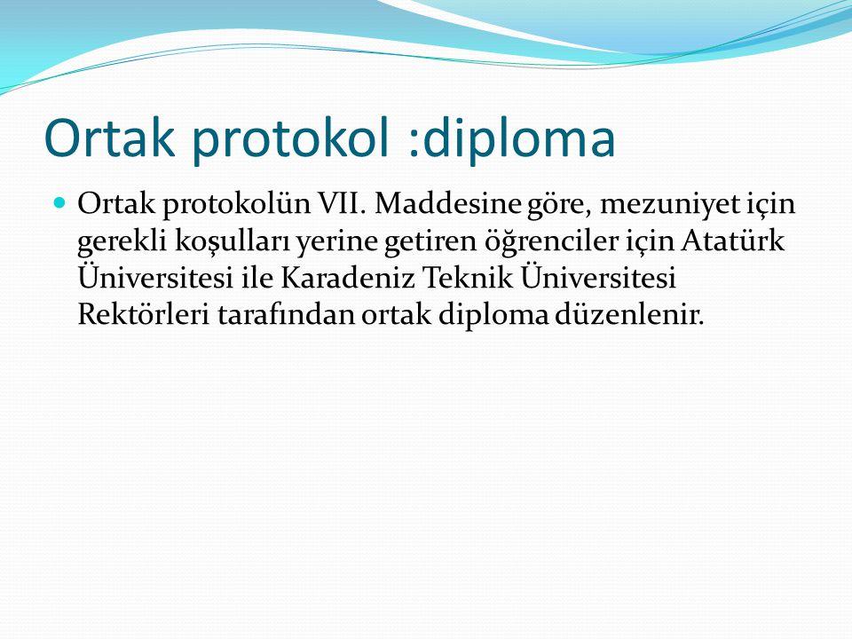 Ortak protokol :diploma