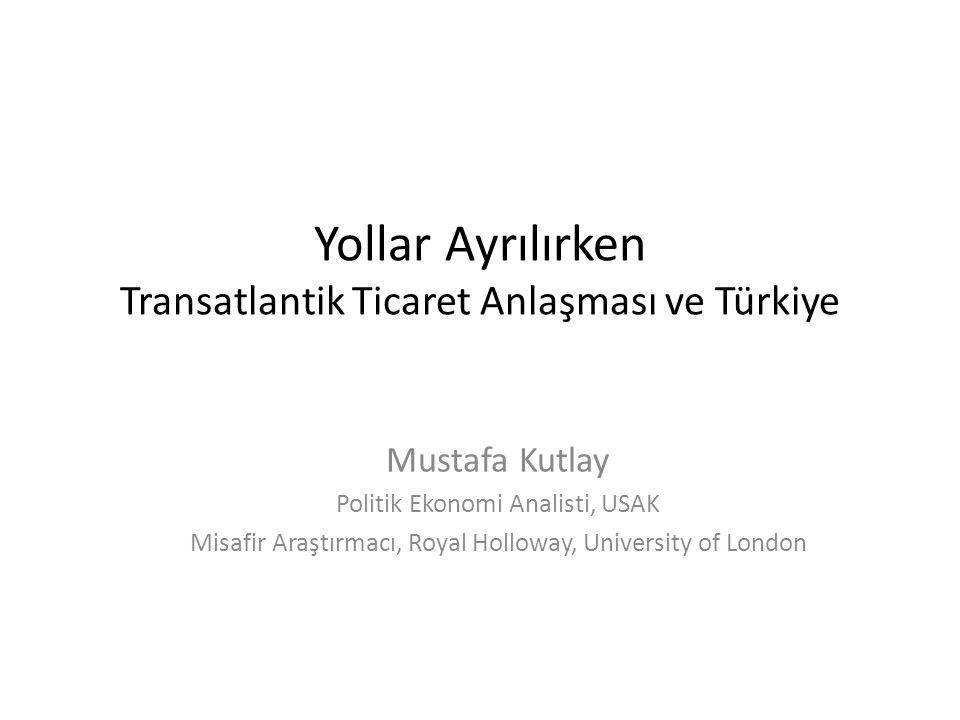 Yollar Ayrılırken Transatlantik Ticaret Anlaşması ve Türkiye