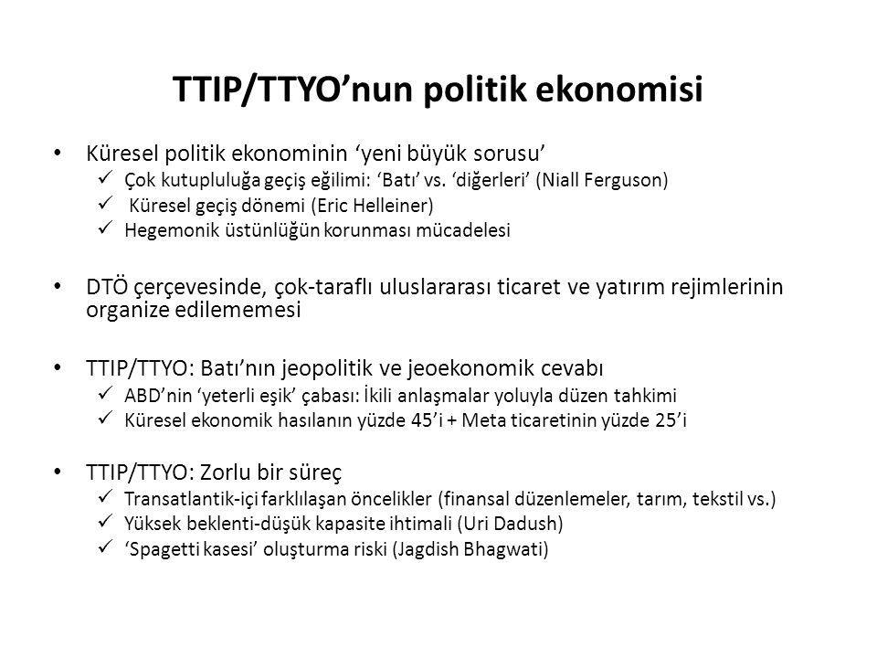 TTIP/TTYO'nun politik ekonomisi