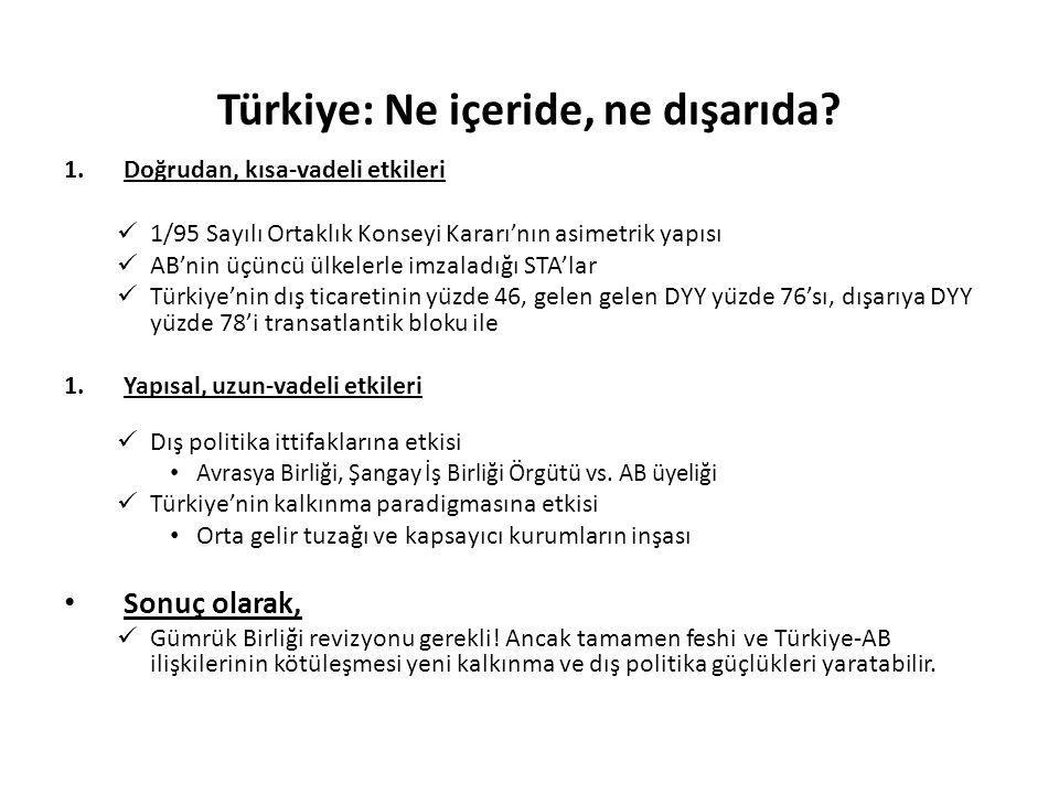 Türkiye: Ne içeride, ne dışarıda