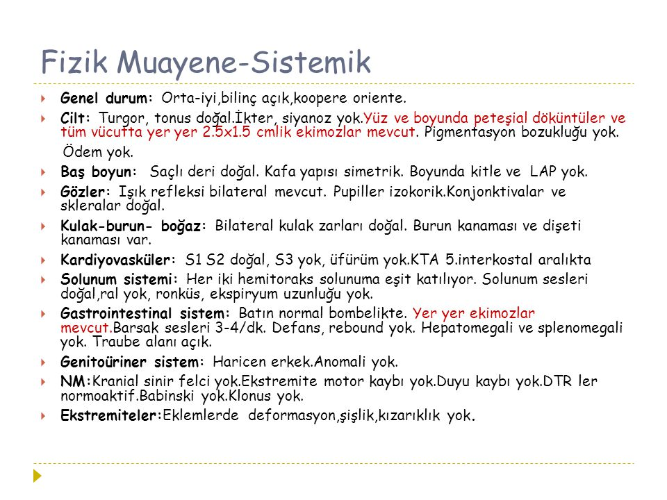 Fizik Muayene-Sistemik