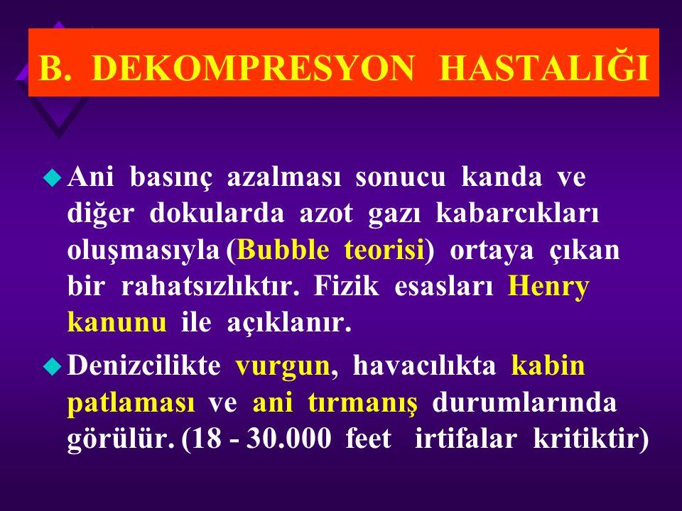 B. DEKOMPRESYON HASTALIĞI