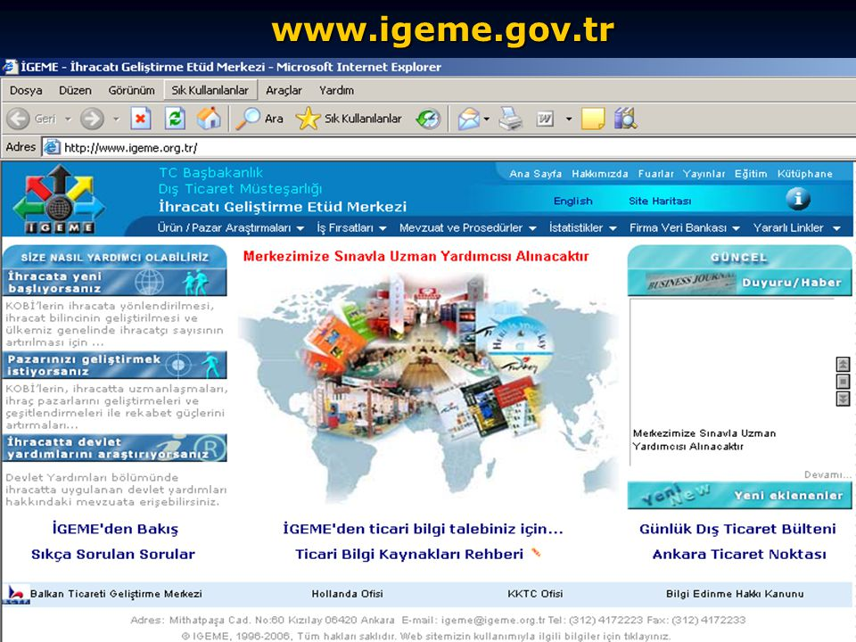 www.igeme.gov.tr