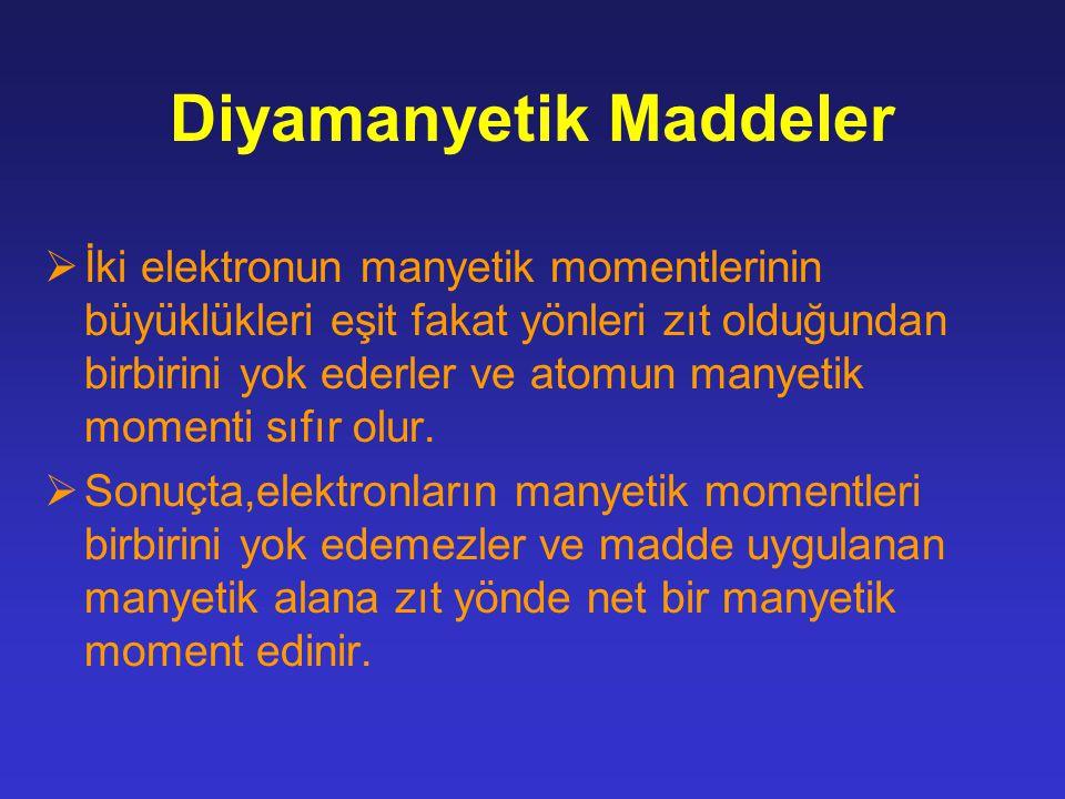 Diyamanyetik Maddeler