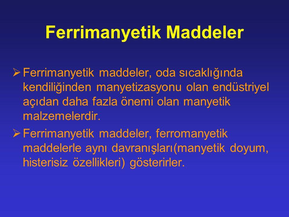 Ferrimanyetik Maddeler