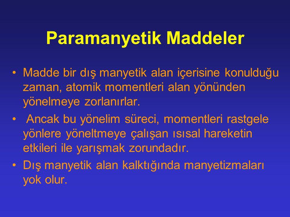 Paramanyetik Maddeler