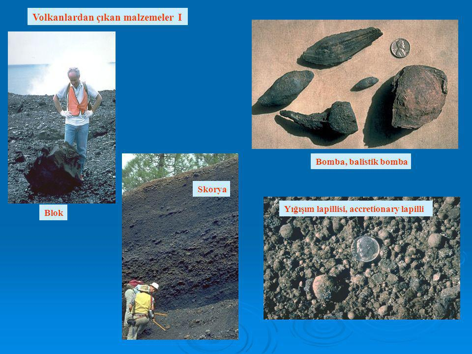 Volkanlardan çıkan malzemeler I