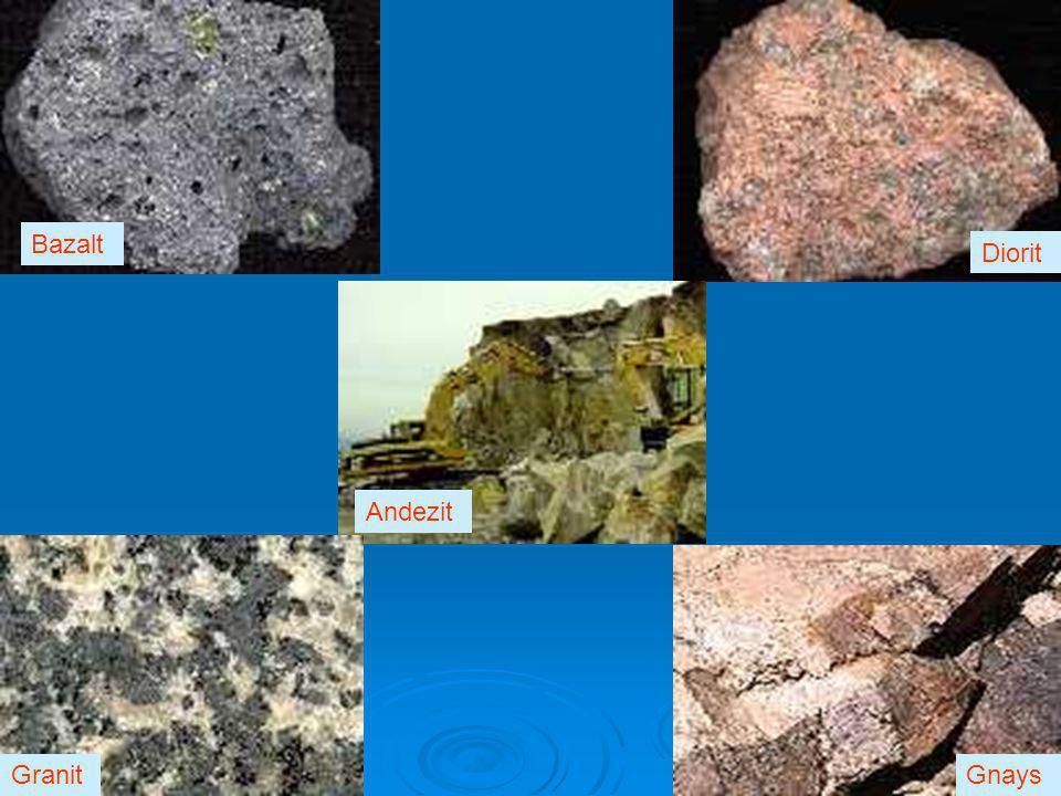 Bazalt Diorit Andezit Granit Gnays