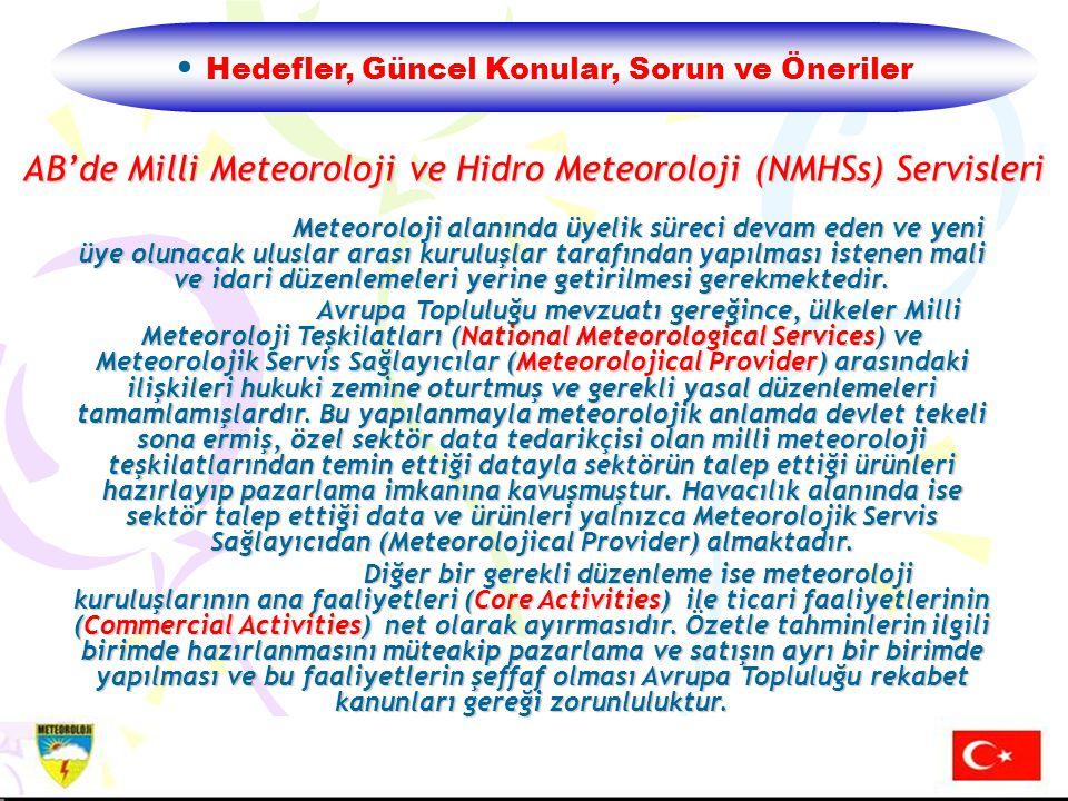 AB'de Milli Meteoroloji ve Hidro Meteoroloji (NMHSs) Servisleri