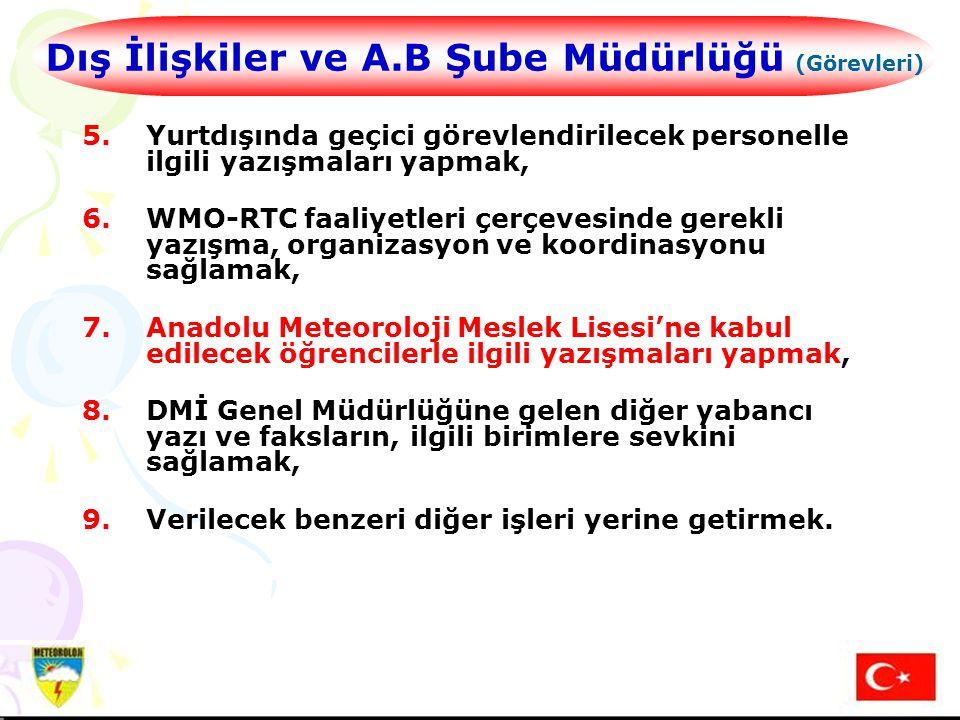 Dış İlişkiler ve A.B Şube Müdürlüğü (Görevleri)