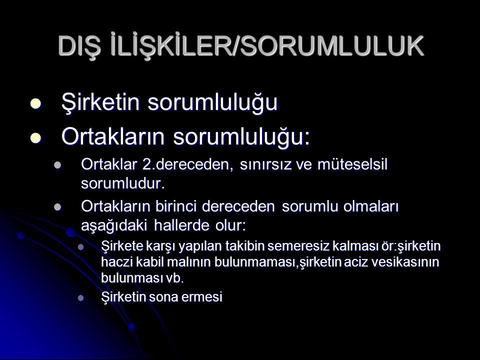 DIŞ İLİŞKİLER/SORUMLULUK