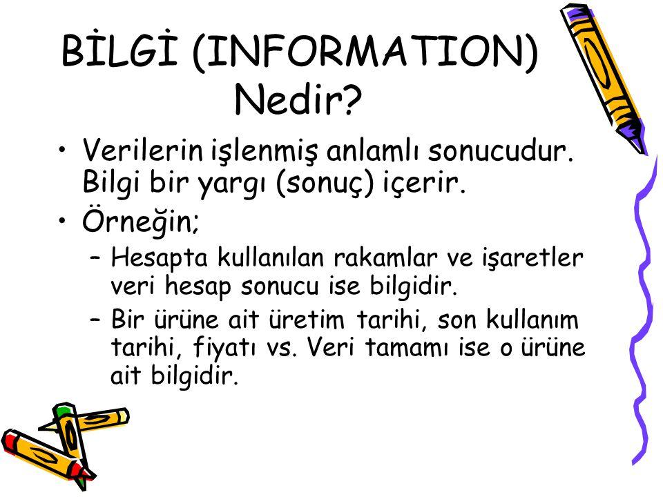 BİLGİ (INFORMATION) Nedir