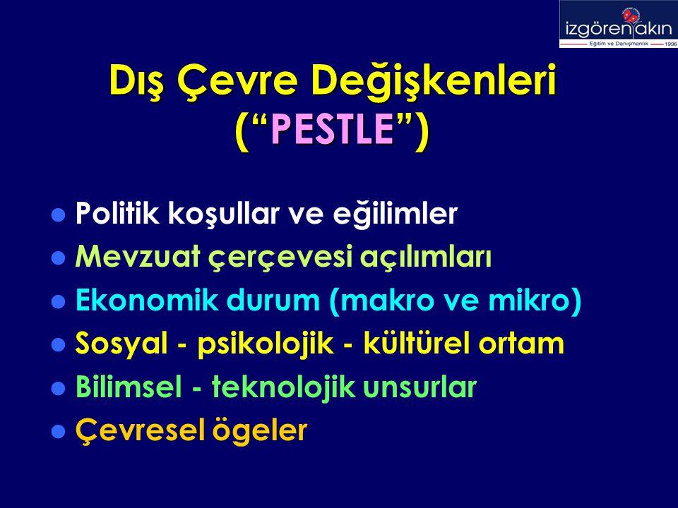 Dış Çevre Değişkenleri ( PESTLE )