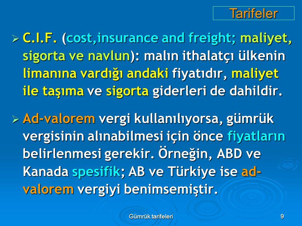 Tarifeler