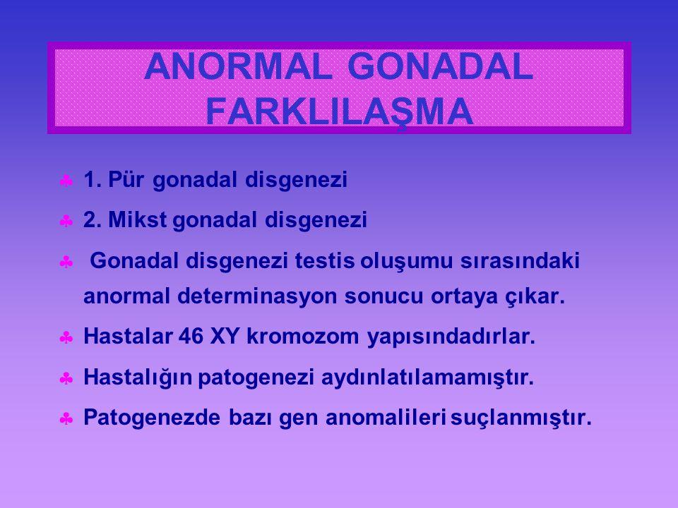 ANORMAL GONADAL FARKLILAŞMA