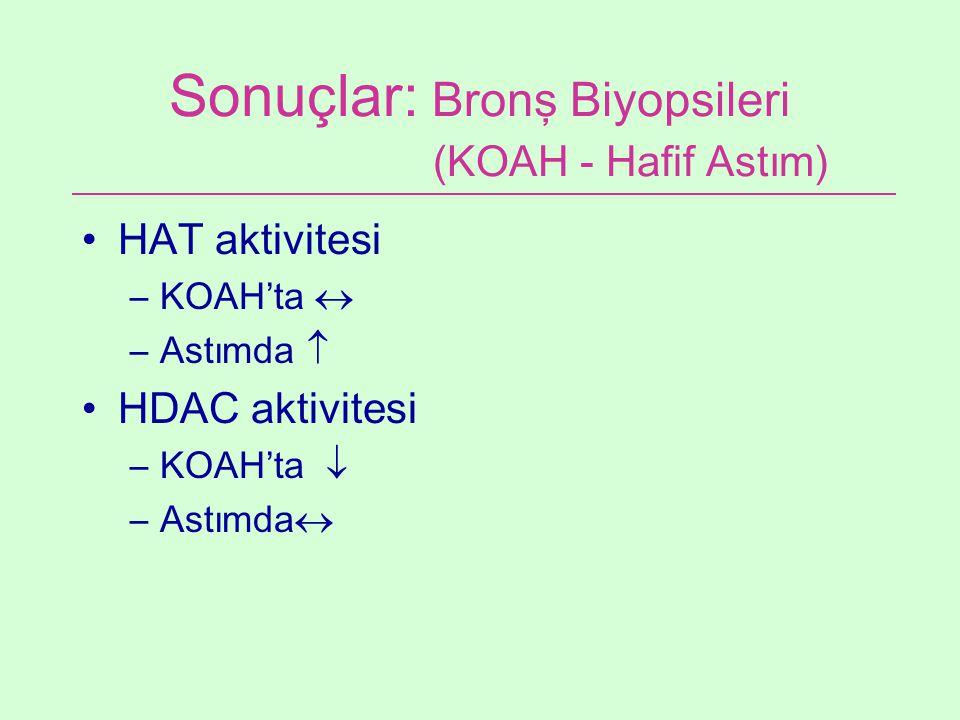 Sonuçlar: Bronş Biyopsileri (KOAH - Hafif Astım)
