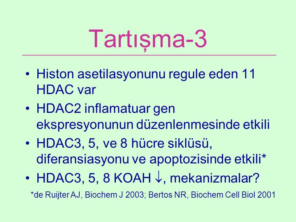Tartışma-3 Histon asetilasyonunu regule eden 11 HDAC var