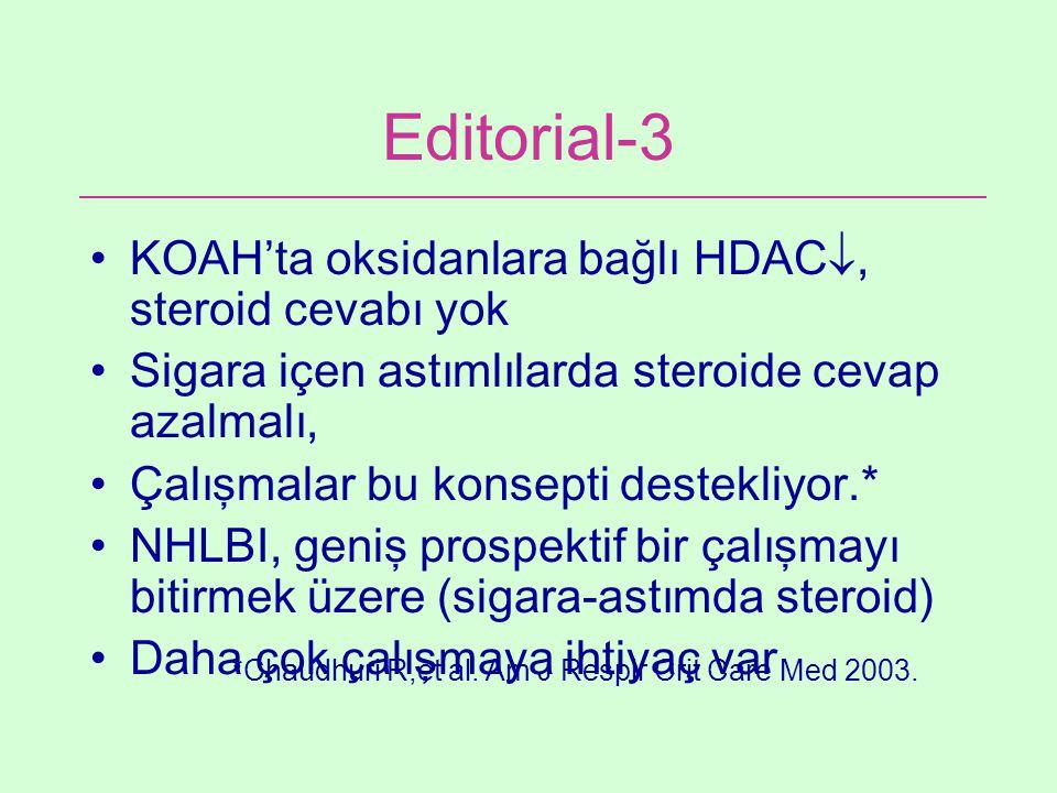 Editorial-3 KOAH'ta oksidanlara bağlı HDAC, steroid cevabı yok