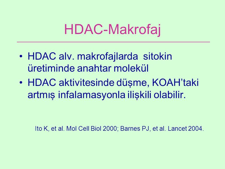 HDAC-Makrofaj HDAC alv. makrofajlarda sitokin üretiminde anahtar molekül.