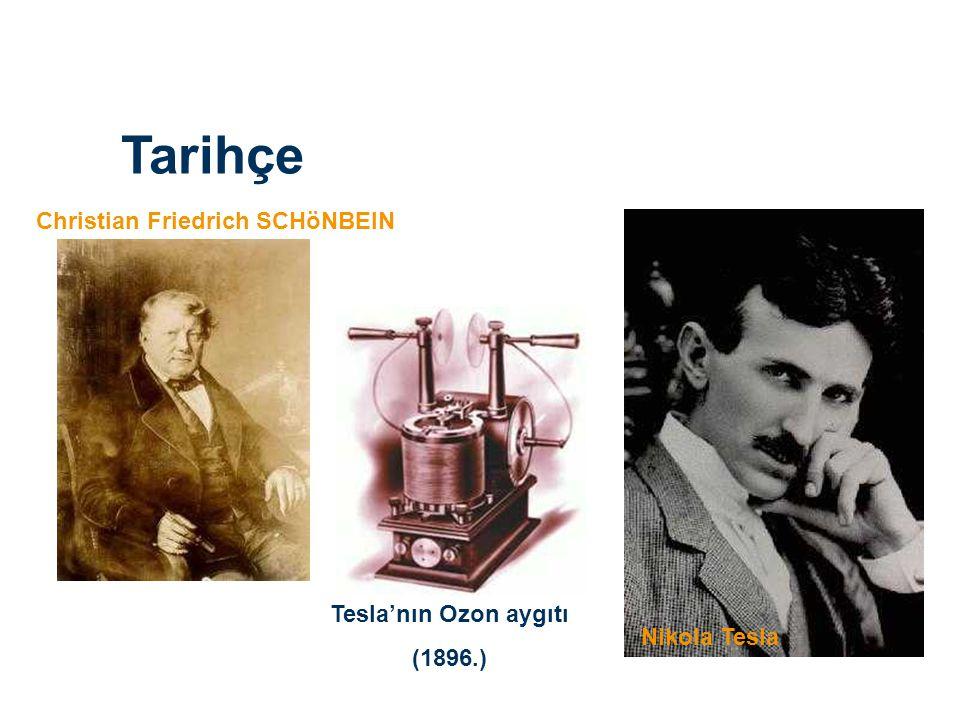 Tarihçe Christian Friedrich SCHöNBEIN Tesla'nın Ozon aygıtı (1896.)