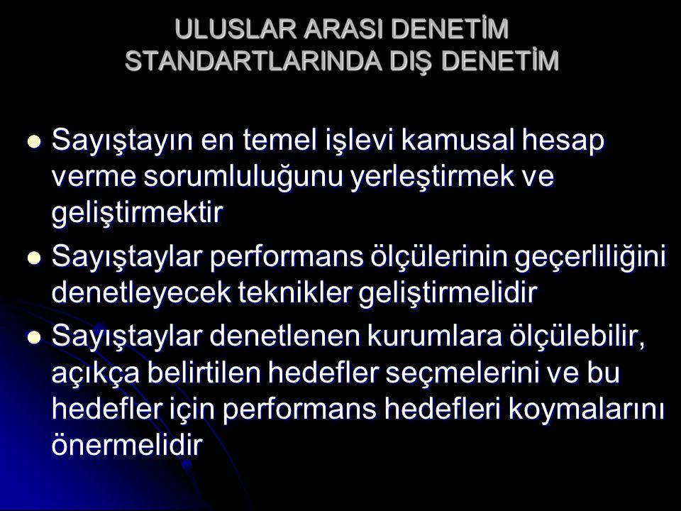 ULUSLAR ARASI DENETİM STANDARTLARINDA DIŞ DENETİM