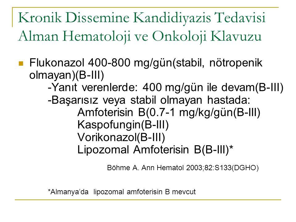 Kronik Dissemine Kandidiyazis Tedavisi Alman Hematoloji ve Onkoloji Klavuzu