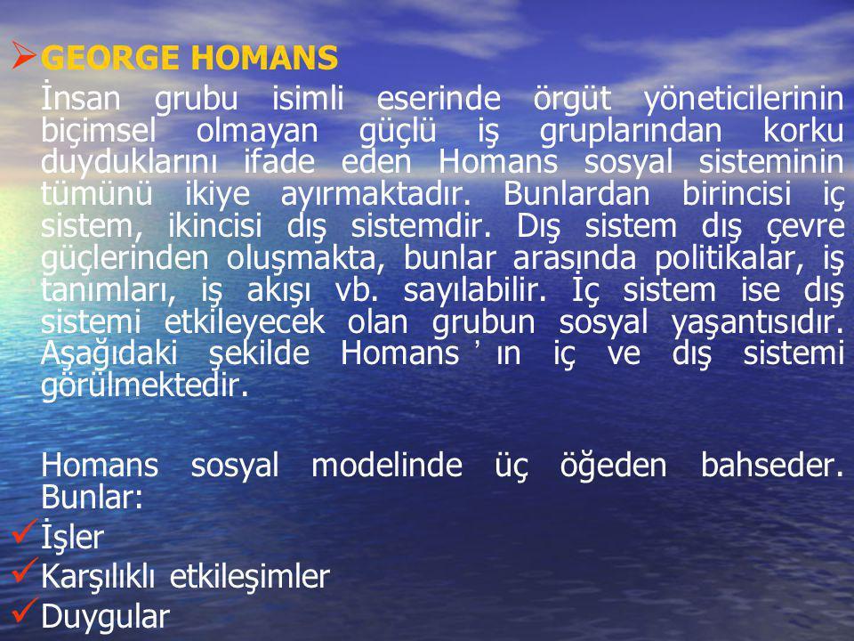 GEORGE HOMANS