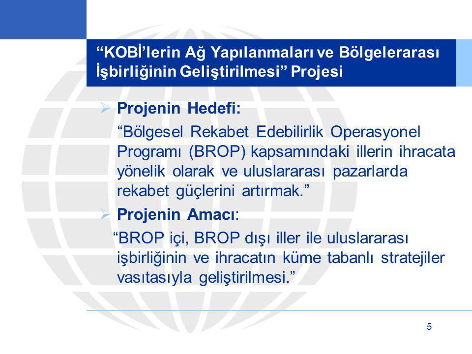 KOBİ'lerin Ağ Yapılanmaları ve Bölgelerarası İşbirliğinin Geliştirilmesi Projesi