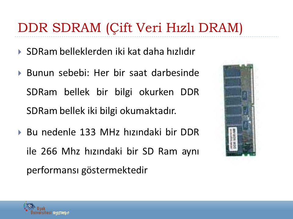 DDR SDRAM (Çift Veri Hızlı DRAM)