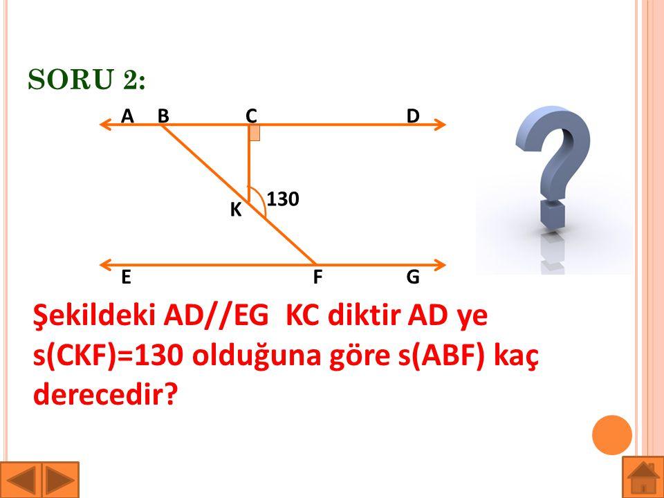 SORU 2: A. B. C. D. 130. K. E. F. G.