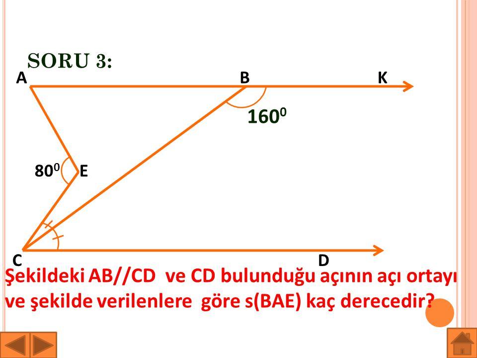 SORU 3: A. B. K. 1600. 800. E. C. D.