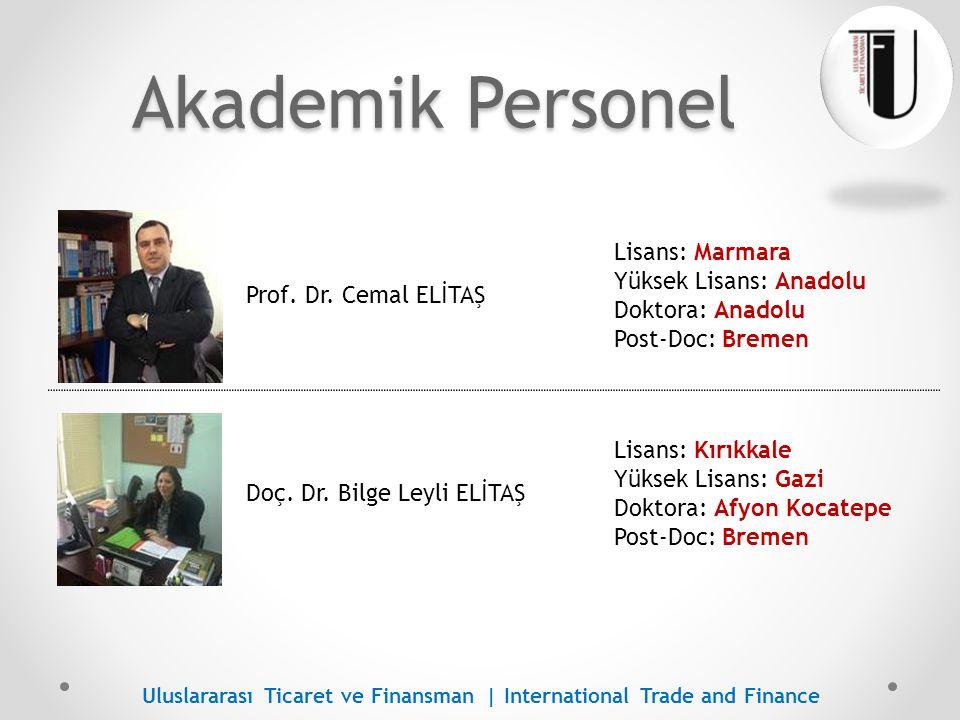 Akademik Personel Lisans: Marmara Yüksek Lisans: Anadolu