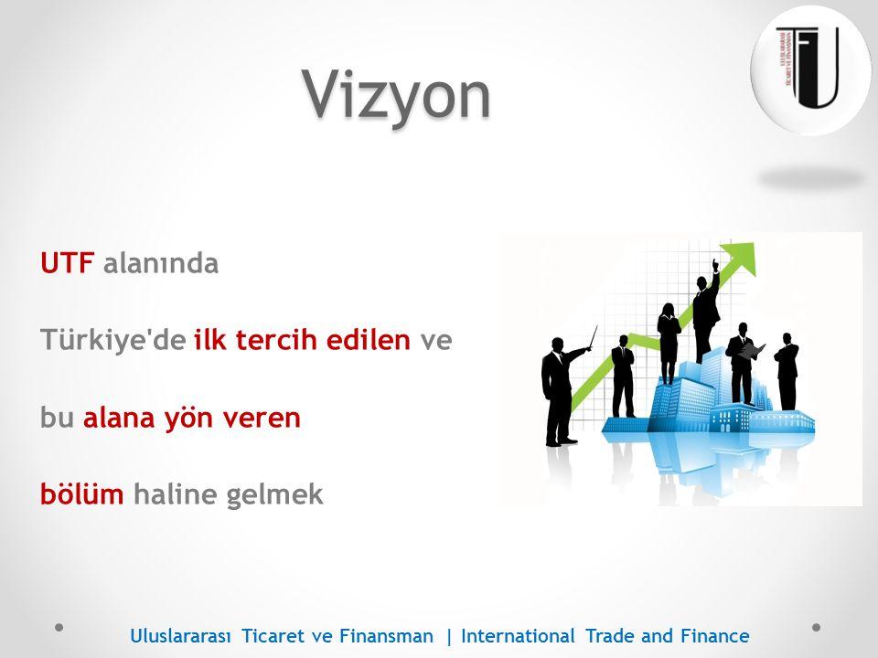Vizyon UTF alanında Türkiye de ilk tercih edilen ve bu alana yön veren bölüm haline gelmek