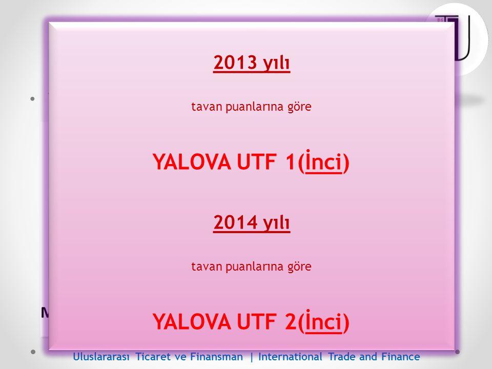 ÖSYS Başarısı - Genel YALOVA UTF 1(İnci) YALOVA UTF 2(İnci) 2013 yılı