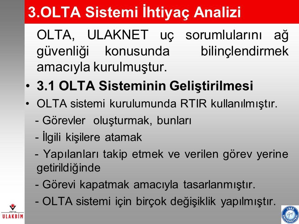 3.OLTA Sistemi İhtiyaç Analizi