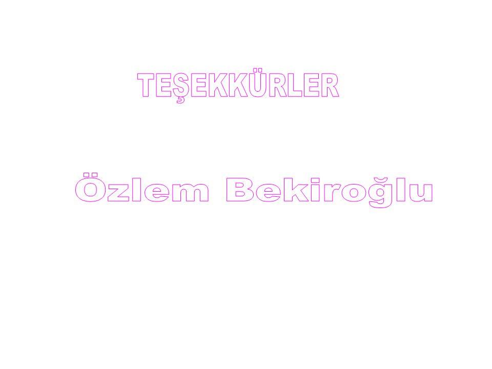 TEŞEKKÜRLER Özlem Bekiroğlu