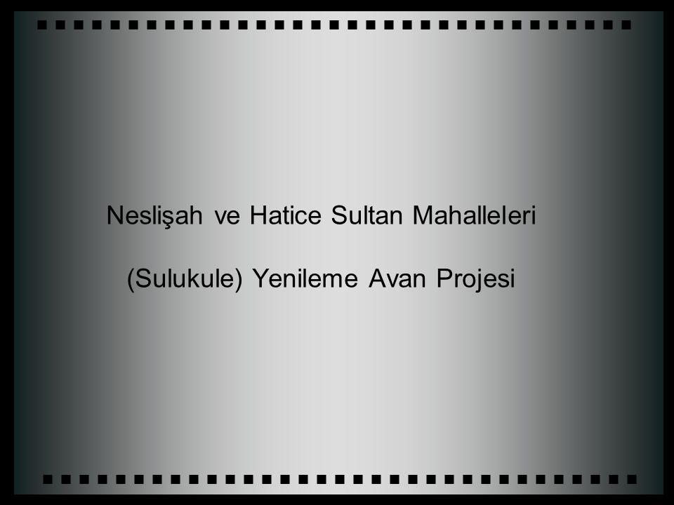 Neslişah ve Hatice Sultan Mahalleleri (Sulukule) Yenileme Avan Projesi