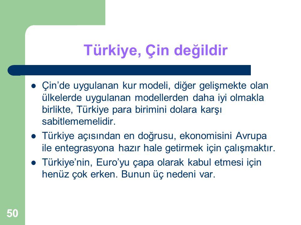 Türkiye, Çin değildir