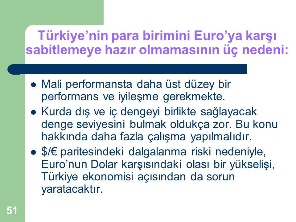 Türkiye'nin para birimini Euro'ya karşı sabitlemeye hazır olmamasının üç nedeni: