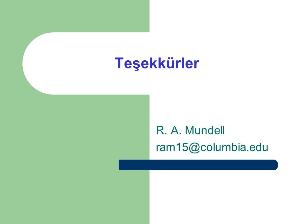 R. A. Mundell ram15@columbia.edu