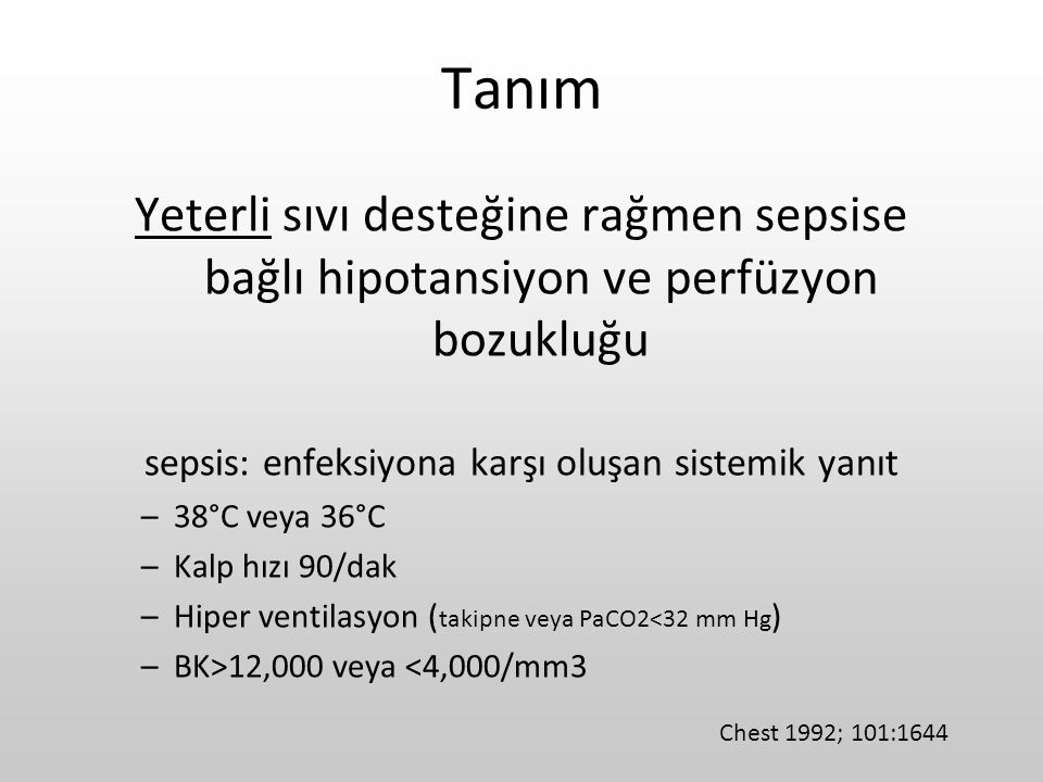 sepsis: enfeksiyona karşı oluşan sistemik yanıt