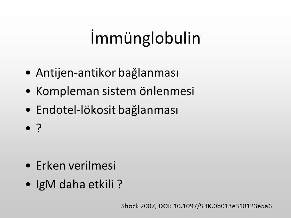 İmmünglobulin Antijen-antikor bağlanması Kompleman sistem önlenmesi