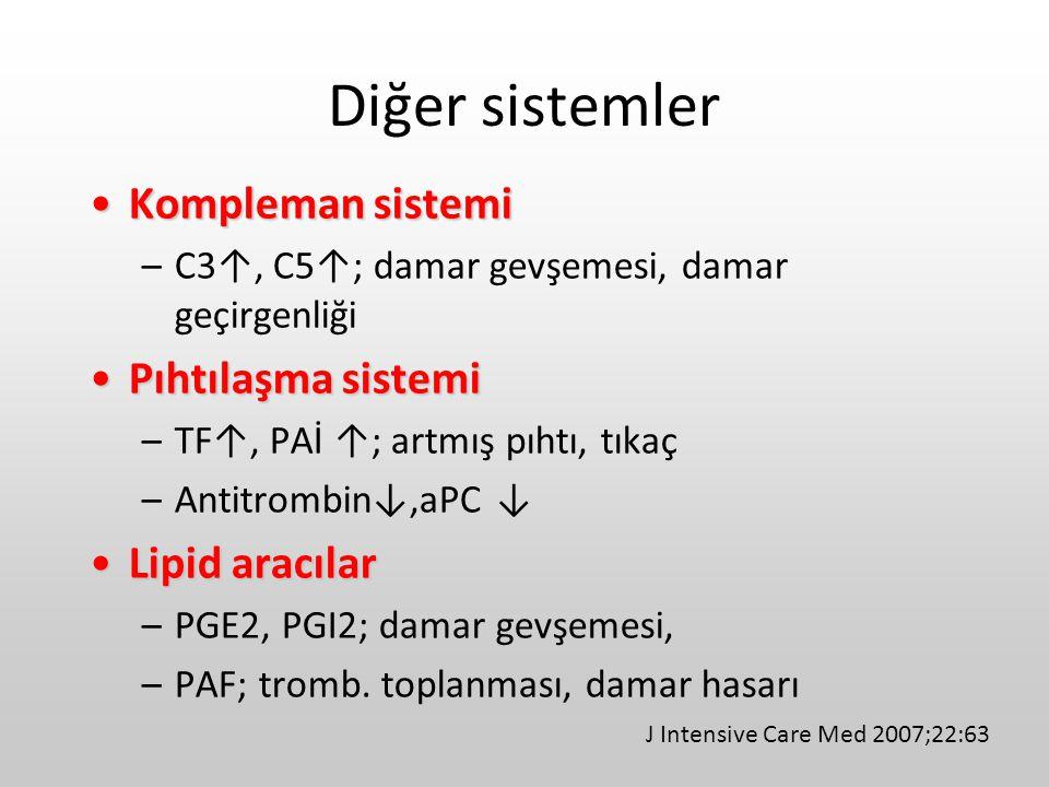 Diğer sistemler Kompleman sistemi Pıhtılaşma sistemi Lipid aracılar