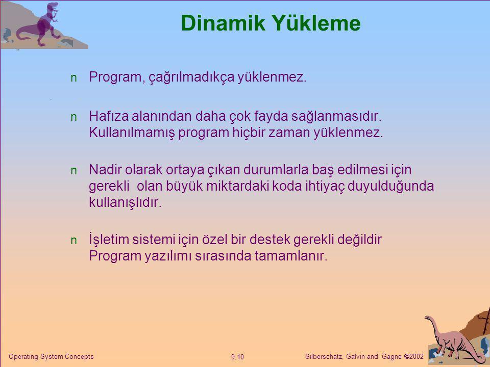 Dinamik Yükleme Program, çağrılmadıkça yüklenmez.