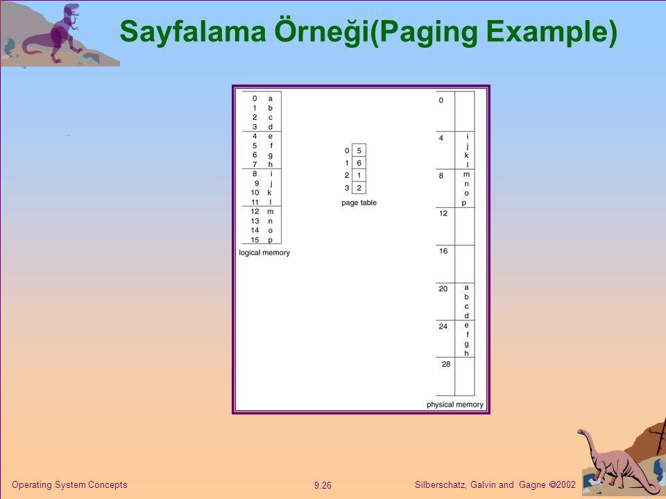 Sayfalama Örneği(Paging Example)