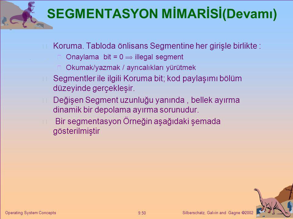 SEGMENTASYON MİMARİSİ(Devamı)