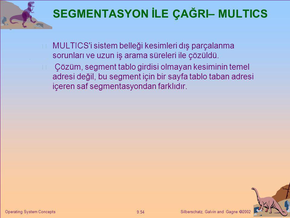 SEGMENTASYON İLE ÇAĞRI– MULTICS