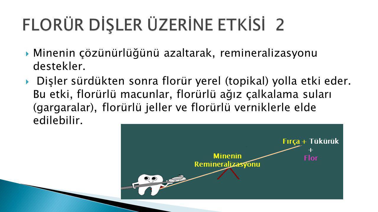 FLORÜR DİŞLER ÜZERİNE ETKİSİ 2