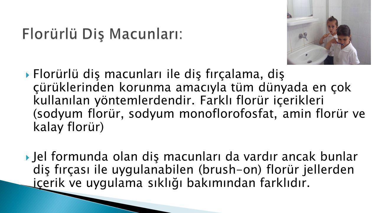 Florürlü Diş Macunları:
