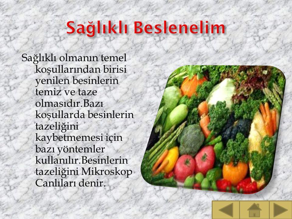 Sağlıklı Beslenelim
